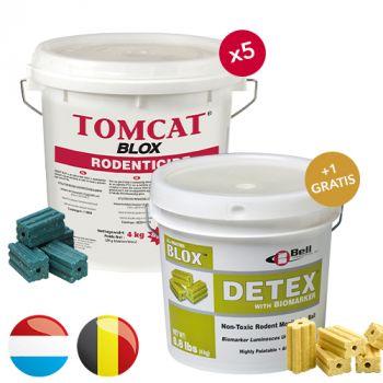 Tomcat Blox (4 KG) * PROMO * 5 + 1 DETEX BLOX (4 KG) GRATIS